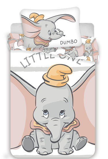 Obrázok z Disney povlečení do postýlky Dumbo stripe baby 100x135, 60x40 cm