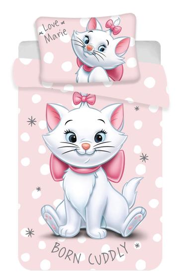 Obrázok z Disney povlečení do postýlky Marie cat dots  baby 100x135, 40x60 cm