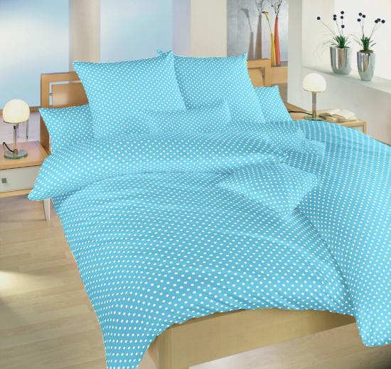 Obrázok z Povlečení bavlna Puntík bílý na světle modrém 40x40 cm