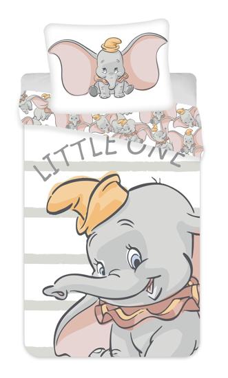 Obrázok z Povlečení Dumbo grey stripe 140x200, 70x90 cm
