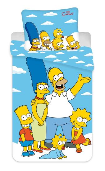 Obrázok z Povlečení Simpsons Family clouds 02 140x200, 70x90 cm