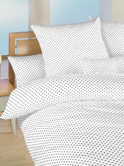 Obrázok z Povlečení bavlna do postýlky Puntík šedý na bílém 90x130, 45x60 cm