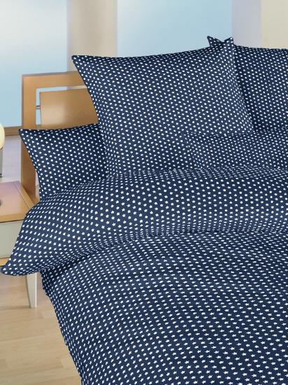 Obrázok z Povlečení bavlna do postýlky Hvězdička bílá na tmavě modrém 90x130, 45x60 cm