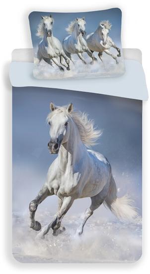 Obrázok z Povlečení fototisk Horses white 140x200, 70x90 cm