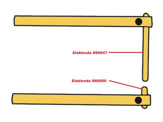 Obrázok z Elektróda pre čelusti XA6 Telwin 690050