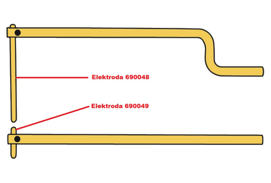 Obrázok z Elektróda pre čelusti XA9 Telwin 690049