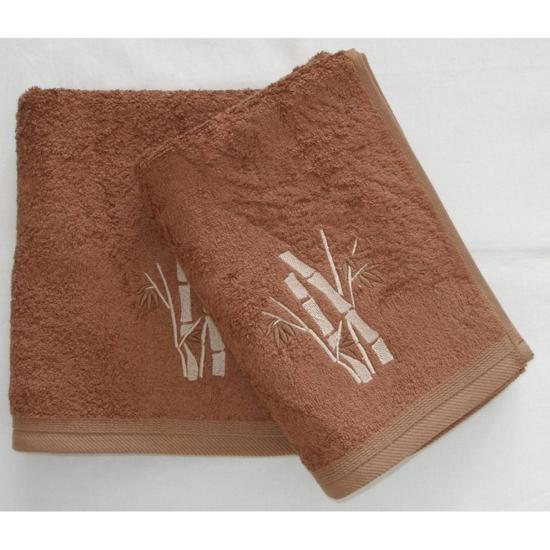 Obrázok z Bambusový ručník Boston oříškový 50x100 cm