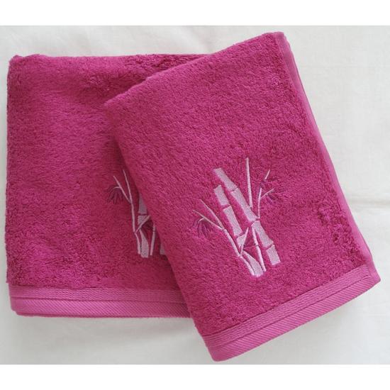 Obrázok z Bambusový ručník Boston cyklaménový 50x100 cm