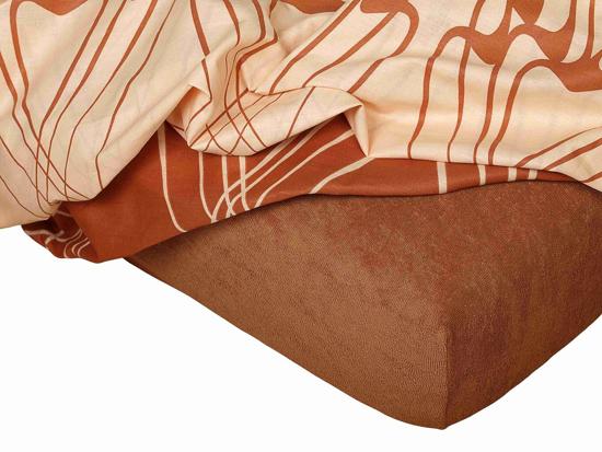 Obrázok z Froté prostěradlo 110x200x15 cm nugátové II.jakost