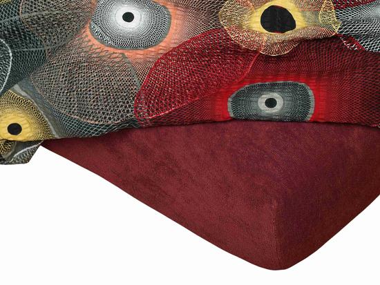 Obrázok z Froté prostěradlo 200x220x15 cm bordó II.jakost