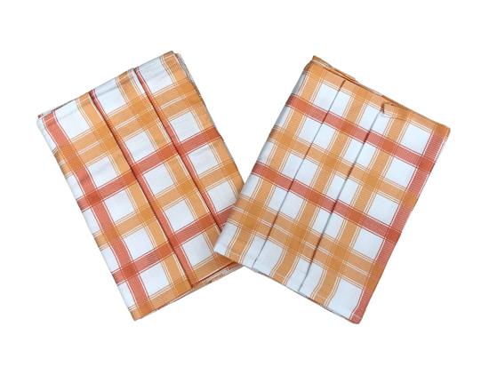 Obrázok z Utěrka Bambus 50x70 cm Kostka střední oranžová 3 ks