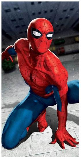 Obrázok z Osuška Spiderman blue 03 70x140 cm