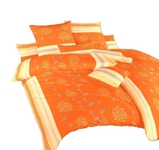 Obrázok z Povlečení krep Liána oranžová 140x220, 70x90 cm