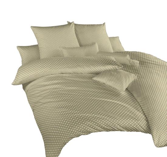 Obrázok z Povlečení krep Puntík bílý na opálu 240x200, 2x70x90 cm