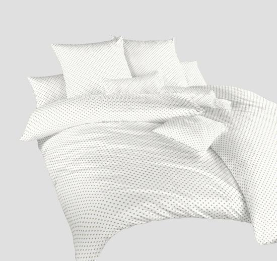 Obrázok z Povlečení krep Puntík opál na bílém 140x200, 70x90 cm