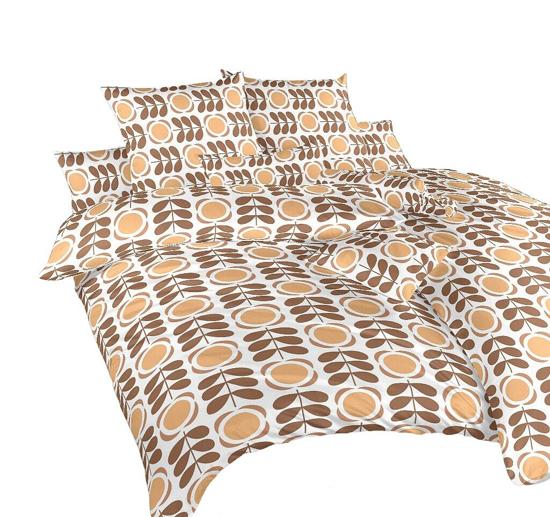 Obrázok z Povlečení krep Kytka nugát 240x200, 2x70x90 cm