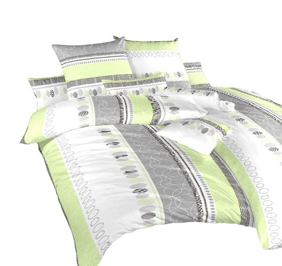 Obrázok z Povlečení flanel Ateliér zelený 240x200, 2x70x90 cm
