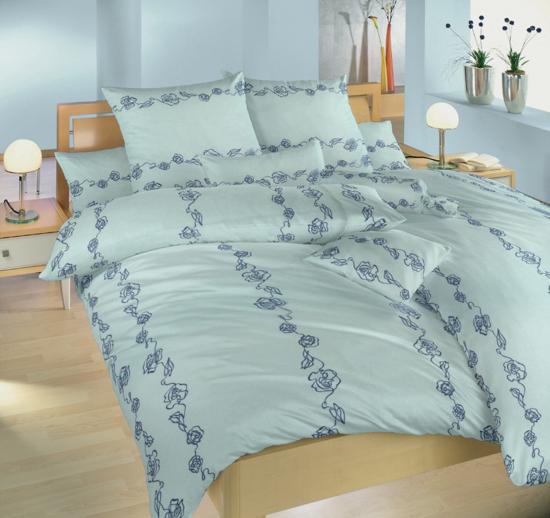 Obrázok z Povlečení flanel Abstraktní růže modré 140x200, 70x90 cm