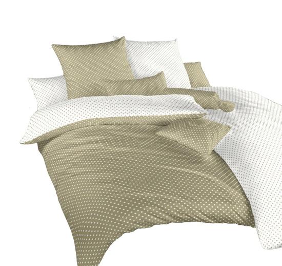 Obrázok z Povlečení krep Puntík bílý/opál DUO 220x220 cm povlak