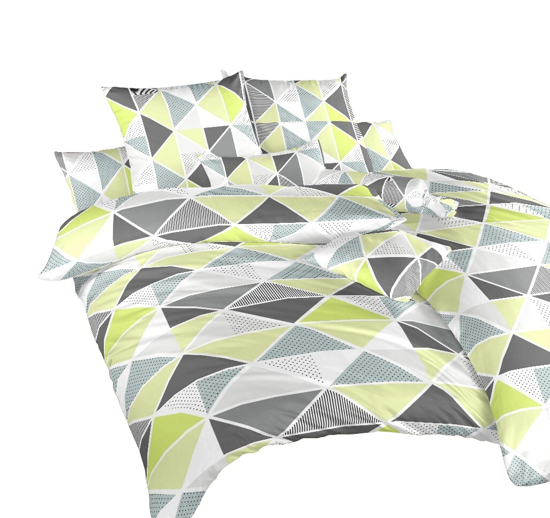 Obrázok z Povlečení krep Pyramidy kiwi 140x220 cm povlak