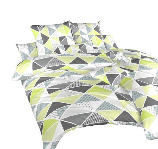 Obrázok z Povlečení krep Pyramidy kiwi 140x220, 70x90 cm