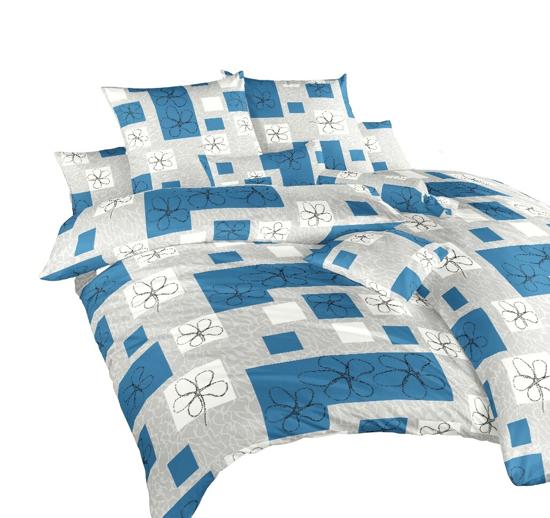 Obrázok z Povlečení bavlna Gobelín modrý 240x200, 2x70x90 cm