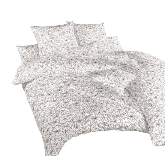 Obrázok z Povlečení bavlna Leknín bordó 140x200, 70x90 cm