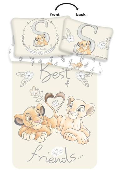 Obrázok z Disney povlečení do postýlky Lví Král Best Friends baby 100x135, 40x60 cm