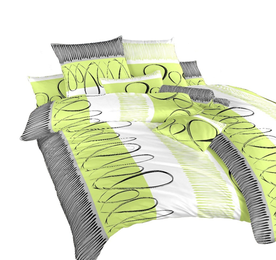 Obrázok z Povlečení bavlna Evelína kiwi 140x200, 70x90 cm