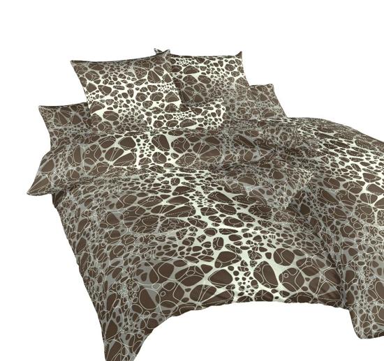 Obrázok z Povlečení bavlna Káva hnědá 240x200, 2x70x90 cm