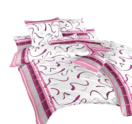 Obrázok z Povlečení satén Herta růžová 40x50 cm povlak