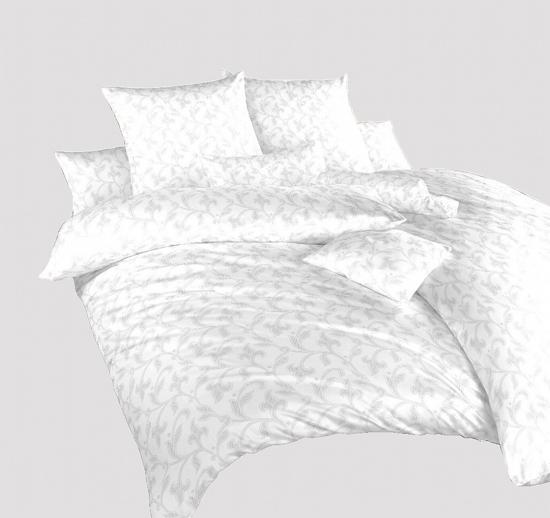Obrázok z Povlečení damašek Rokoko bílé 240x200, 2x70x90 cm