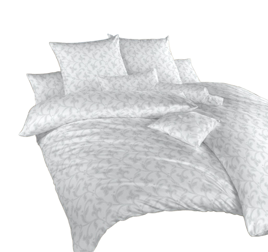 Obrázok z Povlečení damašek Rokoko šedé 140x200 cm povlak