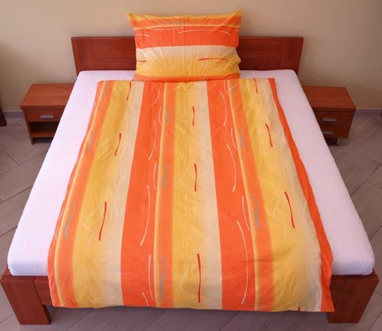 Obrázok z Povlečení bavlna Toffifee oranžové 140x200, 70x90 cm II.jakost