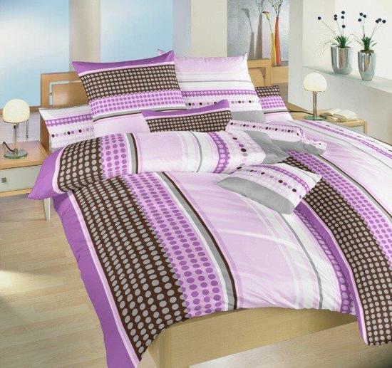 Obrázok z Povlečení bavlna Pralinky fialové 140x200, 70x90 cm II.jakost