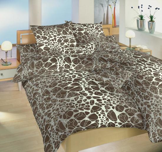 Obrázok z Povlečení bavlna Káva hnědá 140x200, 70x90 cm II.jakost