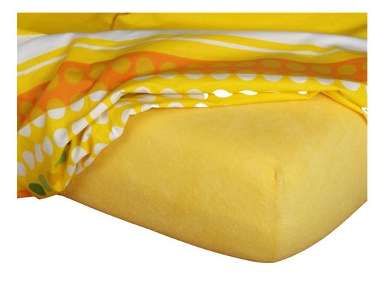 Obrázok z Froté prostěradlo 90x200x15 cm tmavě žluté II.jakost