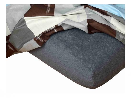 Obrázok z Froté prostěradlo 90x200x15 cm tmavě šedé II.jakost