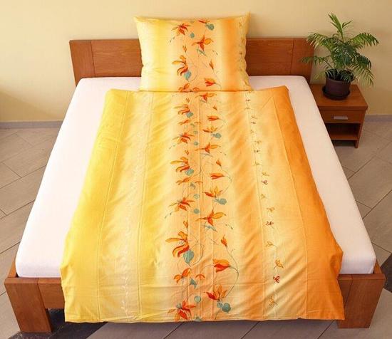 Obrázok z Povlečení bavlna Lilie oranžová 140x200, 70x90 cm II.jakost