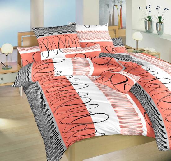 Obrázok z Povlečení bavlna Evelína lososová 140x200, 70x90 cm II.jakost