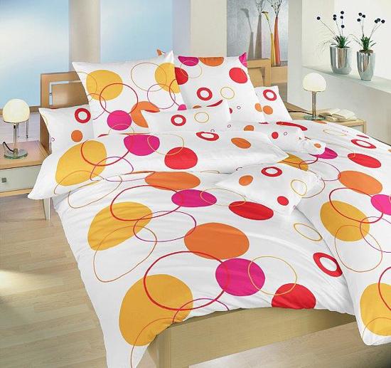 Obrázok z Povlečení bavlna Planety oranžové 140x200, 70x90 cm II.jakost