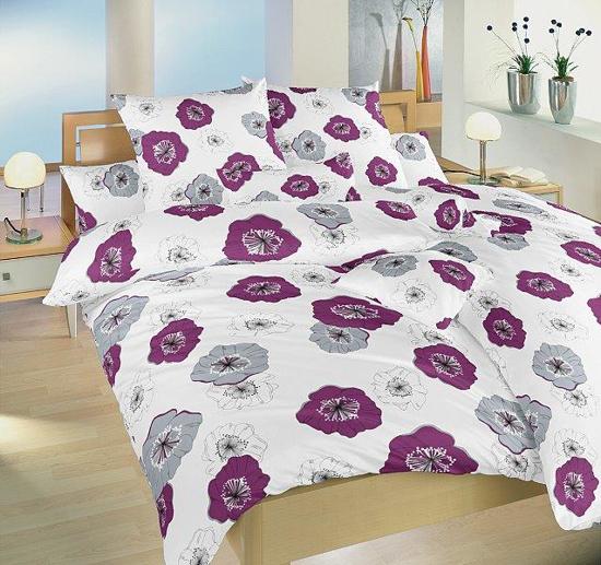 Obrázok z Povlečení bavlna Surfinie ostružinová 140x200, 70x90 cm II.jakost