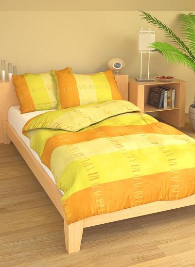Obrázok z Povlečení bavlna Sunset žlutý 140x200, 70x90 cm II.jakost