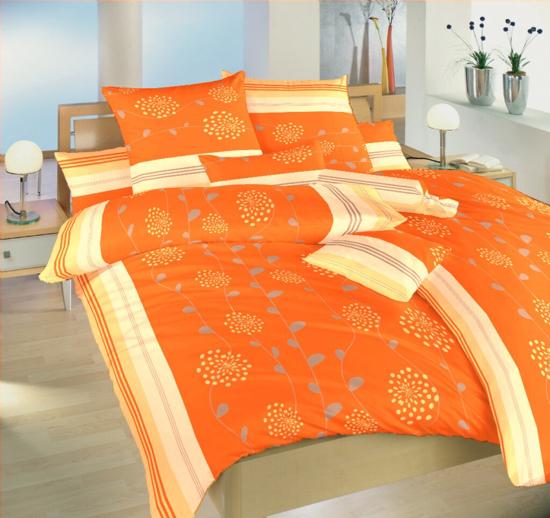 Obrázok z Krepové povlečení Liána oranžová 140x200, 70x90 cm II.jakost
