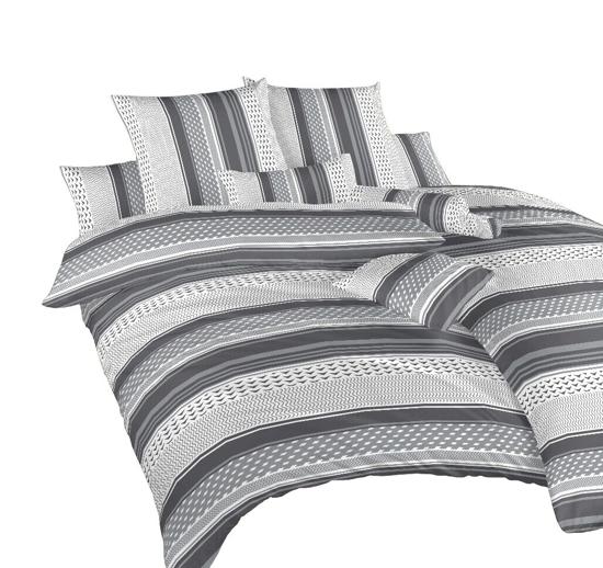Obrázok z Povlečení krep Erik šedý 240x200, 2x70x90 cm