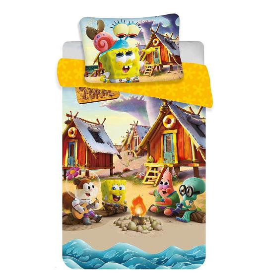Obrázok z Disney povlečení do postýlky Sponge Bob baby 100x135, 40x60 cm