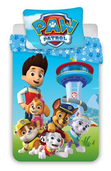Obrázok z Disney povlečení do postýlky Paw Patrol 1015 baby 100x135, 40x60 cm