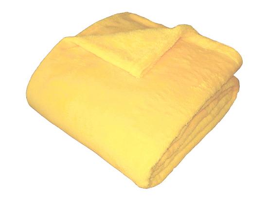 Obrázok z Super soft deka Dadka světle žlutá 150x200 cm