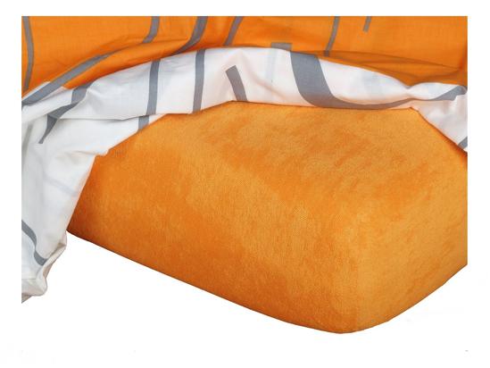 Obrázok z Froté prostěradlo 60x120x10 cm pomeranč  II.jakost