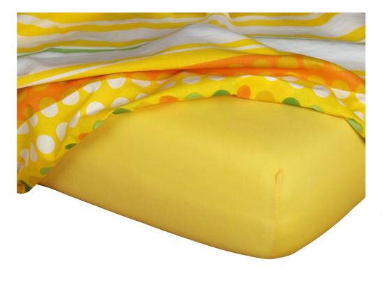 Obrázok z Jersey prostěradlo 60x120x10 cm II.jakost tmavě žluté
